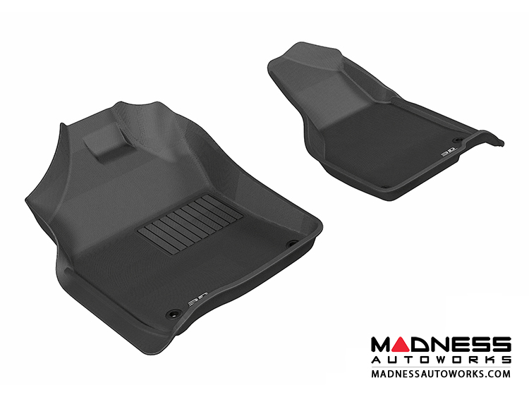 Dodge RAM 1500/ 2500/ 3500 Regular/ Quad Cab Floor Mats (Set of 2) - Front - Black by 3D MAXpider
